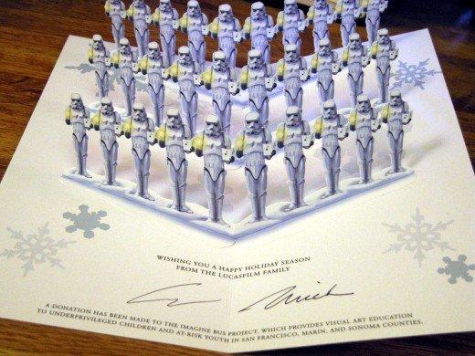 carte voeux lucasfilm star wars noel 26 Les cartes de voeux de Noël Star Wars de LucasFilm