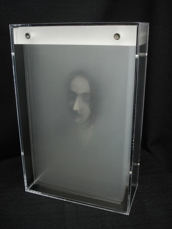 peintures en volume sur plaques transparentes. Black Bedroom Furniture Sets. Home Design Ideas