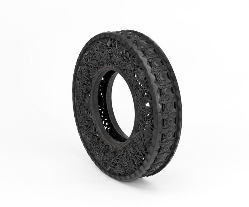 sculptures sur pneus