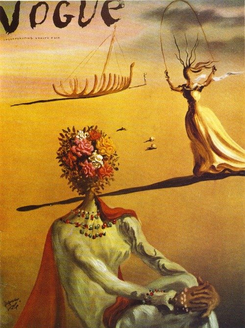 vogue couverture salvador dali 01 Les couvertures de Vogue par Salvador Dali