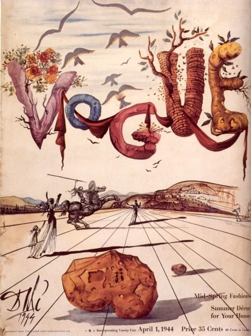 vogue couverture salvador dali 02 Les couvertures de Vogue par Salvador Dali