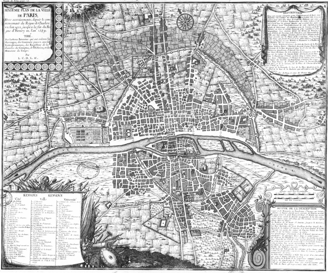 06 Plan de Paris 1422 1589 673x560 Lhistoire de Paris par ses plans