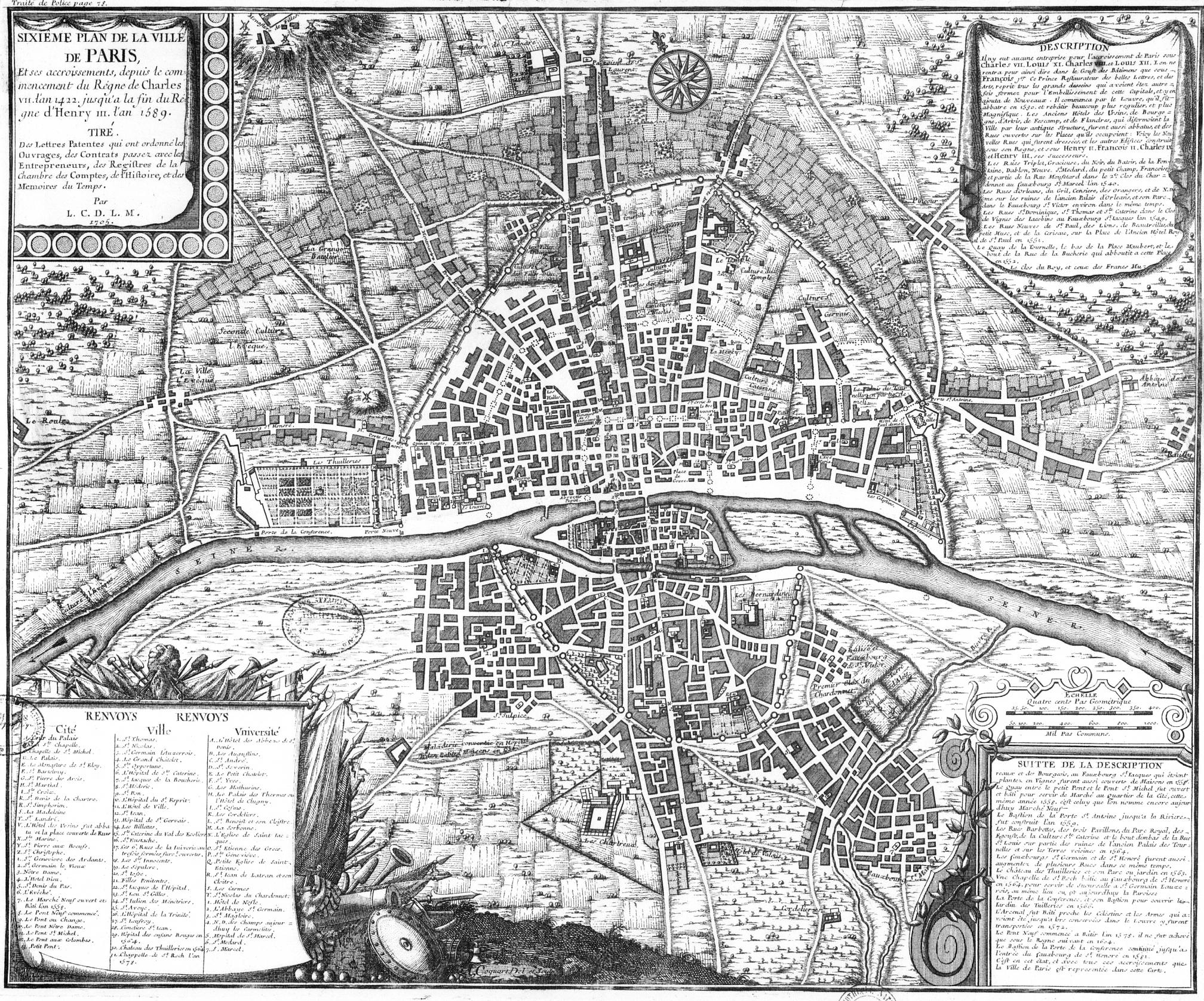 Histoire de la ville de sa création à nos jours avec toutes ses