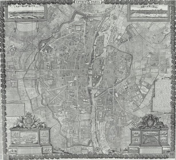 19 1652 Gomboust1 615x560 Lhistoire de Paris par ses plans