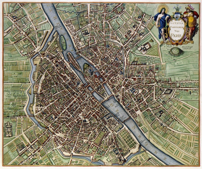 22 Plan de Paris en 1657 668x560 Lhistoire de Paris par ses plans