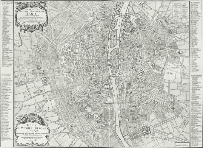 680px 27 1712 Jaillot Lhistoire de Paris par ses plans