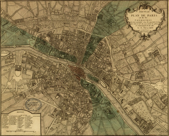 680px 31 1740 Delagrive1 Lhistoire de Paris par ses plans