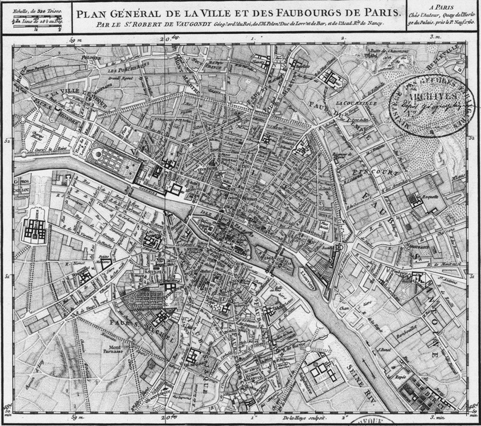 680px 34 1760 Vaugondy1 Lhistoire de Paris par ses plans