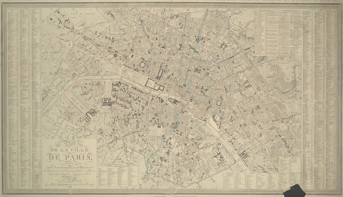 680px 40 Map of Paris 1843 pari0001261 Lhistoire de Paris par ses plans