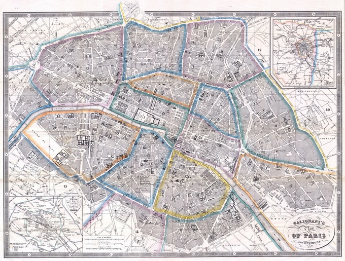 680px 44 1865 Galignanis Plan of Paris and Environs France   Geographicus   Paris galignani 1865 Lhistoire de Paris par ses plans