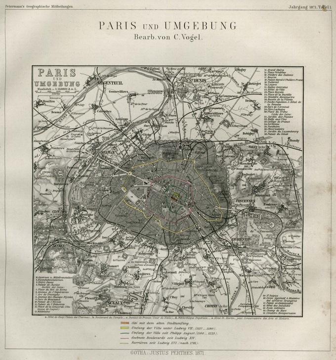 680px 45 Paris und Umgebung 1871 Lhistoire de Paris par ses plans