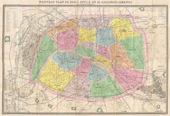 680px 46 plan de paris en 1878 par logerot Lhistoire de Paris par ses plans