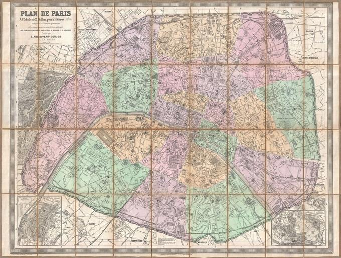 680px 47 plan de paris en 1878 par eugene andriveau goujon Lhistoire de Paris par ses plans