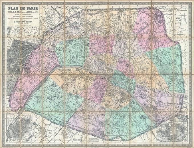 680px 49 plan de paris en 1882 par eugene andriveau goujon Lhistoire de Paris par ses plans