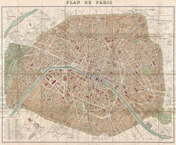 680px 52 plan de paris en 1894 par hachette Lhistoire de Paris par ses plans