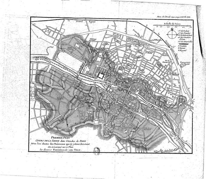 680px 57 Buache plan hydrographique Paris Lhistoire de Paris par ses plans