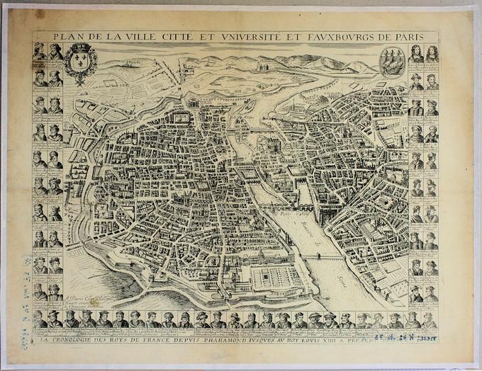 680px 62 Plan de la ville cite et vinversite et f. Paris 91081 Lhistoire de Paris par ses plans