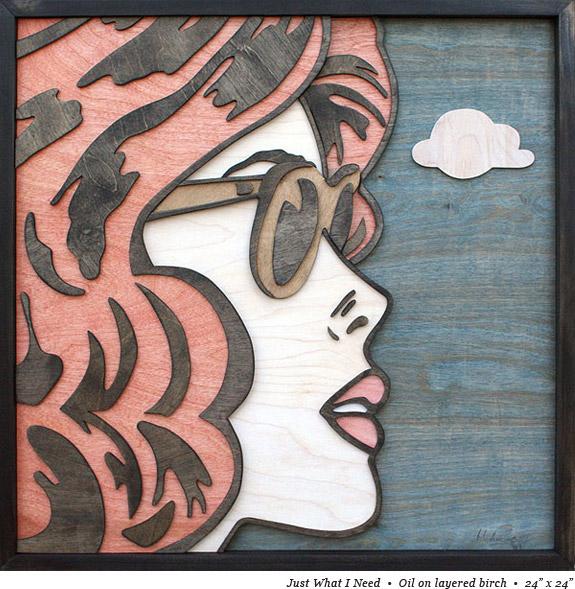 peinture strate bois 05 Peintures sur strates de bois  peinture 2 bonus art