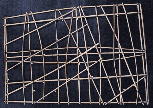polynesie carte bois baton mer vague 07 Cartes polynésiennes de la houle en bouts de bois