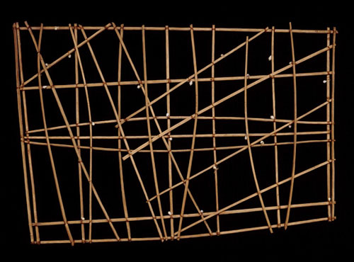 polynesie carte bois baton mer vague 11 Cartes polynésiennes de la houle en bouts de bois