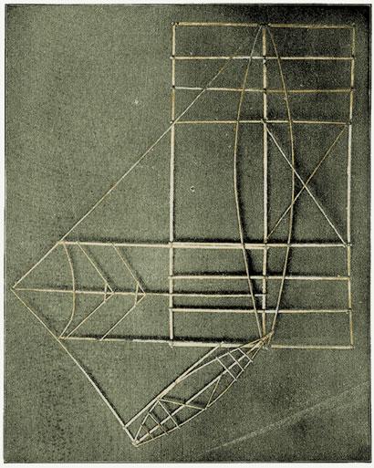 polynesie carte bois baton mer vague 12 Cartes polynésiennes de la houle en bouts de bois
