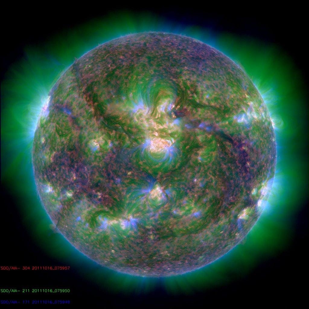 soleil sdo longeur onde 12 Différentes façons de voir le soleil