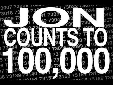 Jon compte jusqu'à 100 000