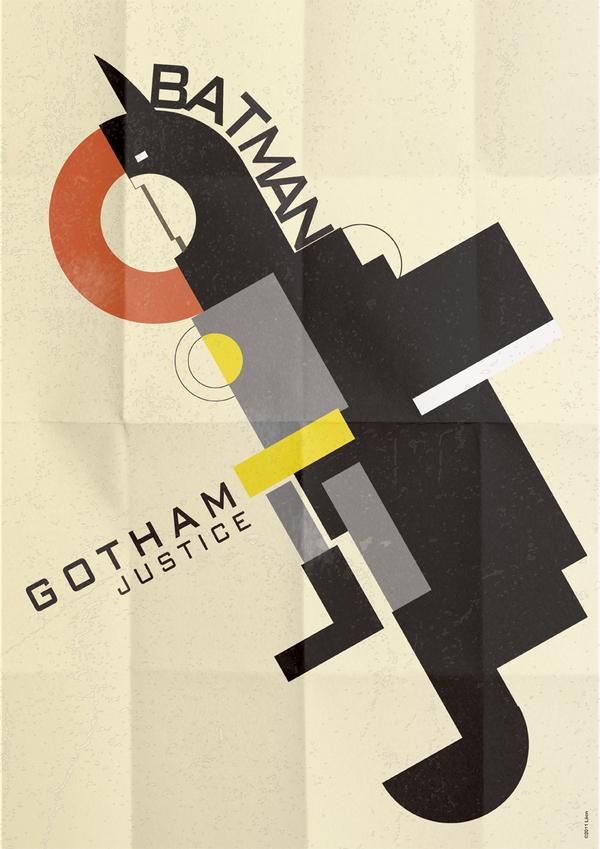 affiche super hero art deco 06 Affiches de super héros façon Art déco  geek design bonus