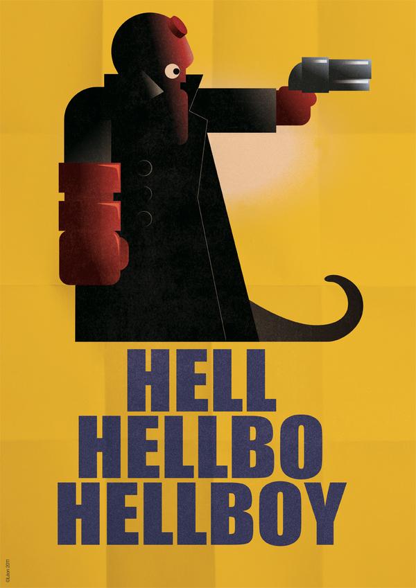 affiche super hero art deco 09 Affiches de super héros façon Art déco  geek design bonus