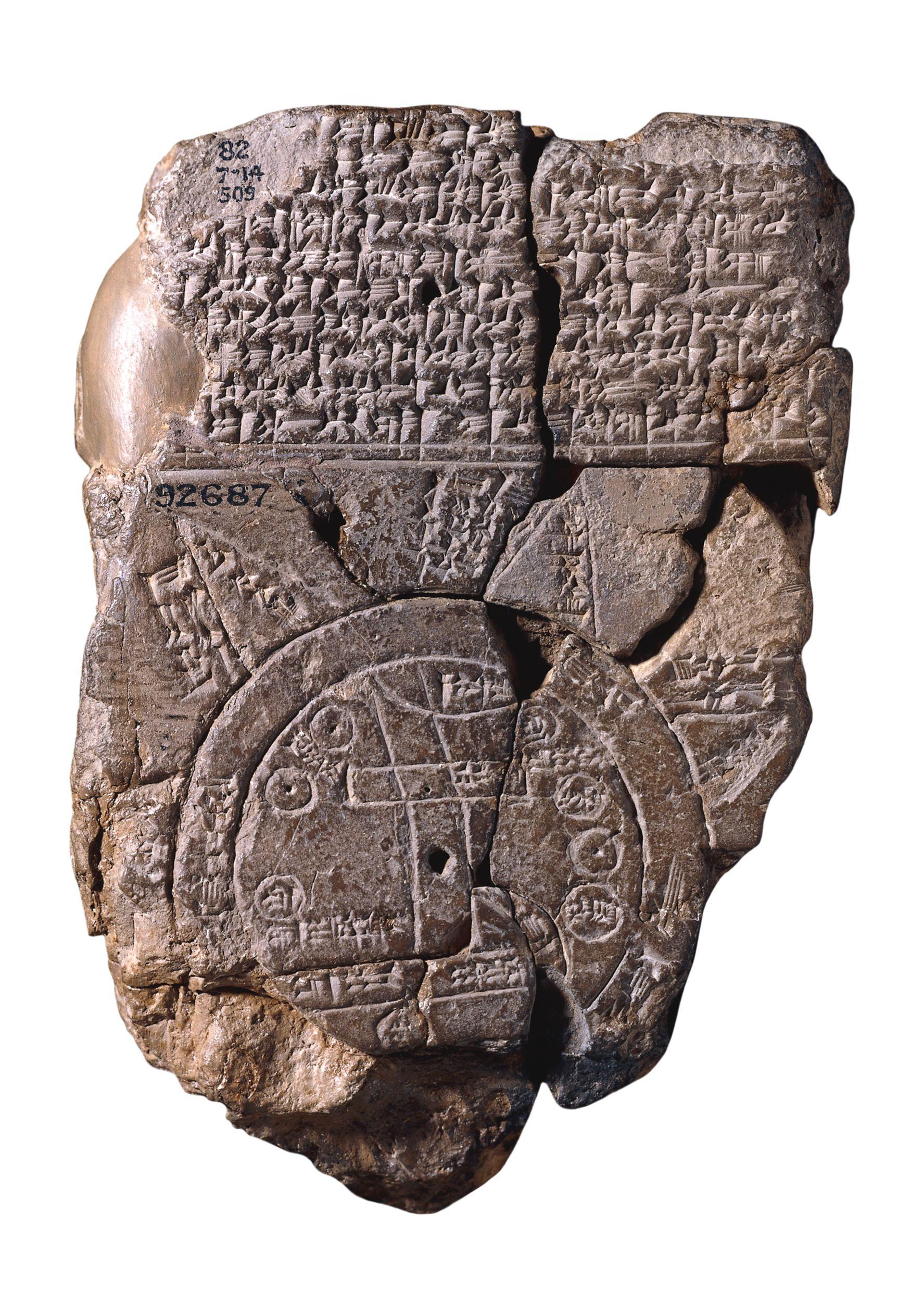 carte monde ancienne babylone La plus vieille carte du monde