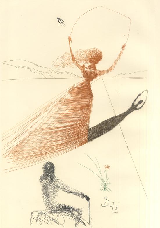 illustration alice pays merveilles dali 01 Salvador Dali illustre Alice au pays des merveilles  peinture 2 design bonus art