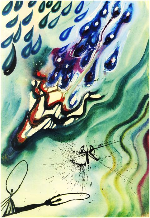 illustration alice pays merveilles dali 03 Salvador Dali illustre Alice au pays des merveilles
