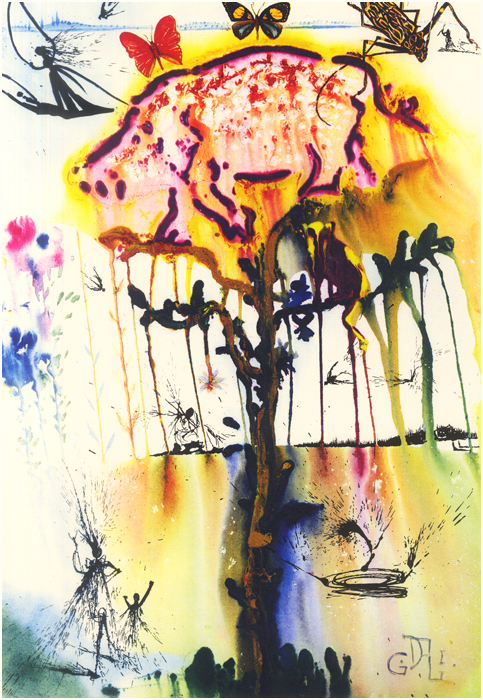 illustration alice pays merveilles dali 06 Salvador Dali illustre Alice au pays des merveilles  peinture 2 design bonus art