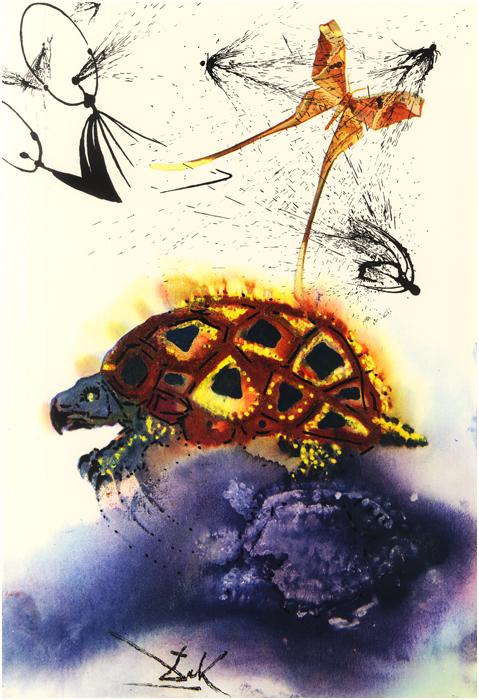 illustration alice pays merveilles dali 09 Salvador Dali illustre Alice au pays des merveilles  peinture 2 design bonus art