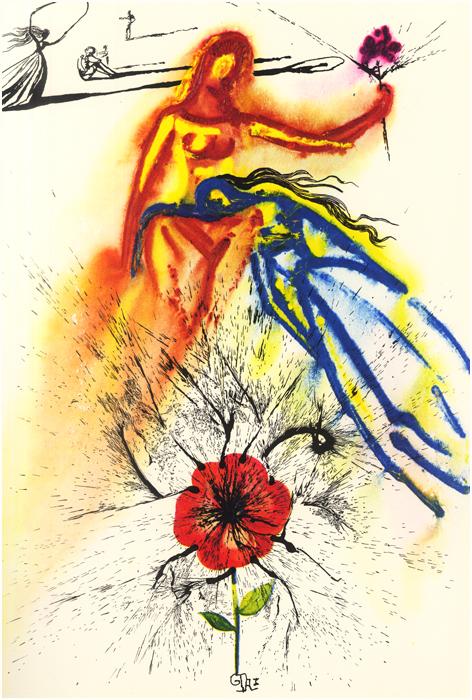 illustration alice pays merveilles dali 12 Salvador Dali illustre Alice au pays des merveilles