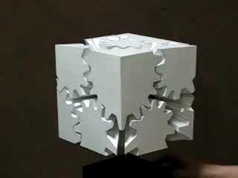Un cube d'engrenages