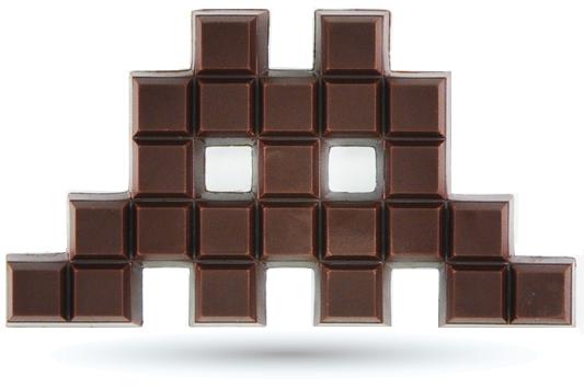 Chocolat-space-invader