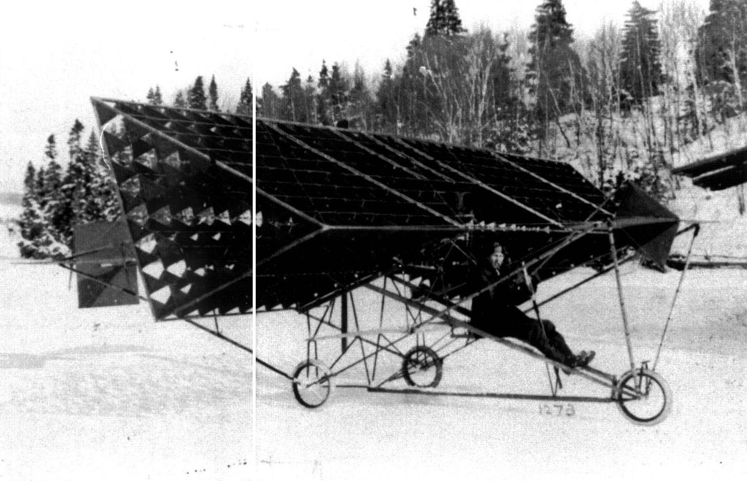 avion tetraedrique histoire 03 Avions et cerf volants tétraédriques