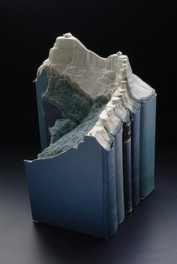 paysage sculpture livre 05 Des paysages sculptés dans des livres