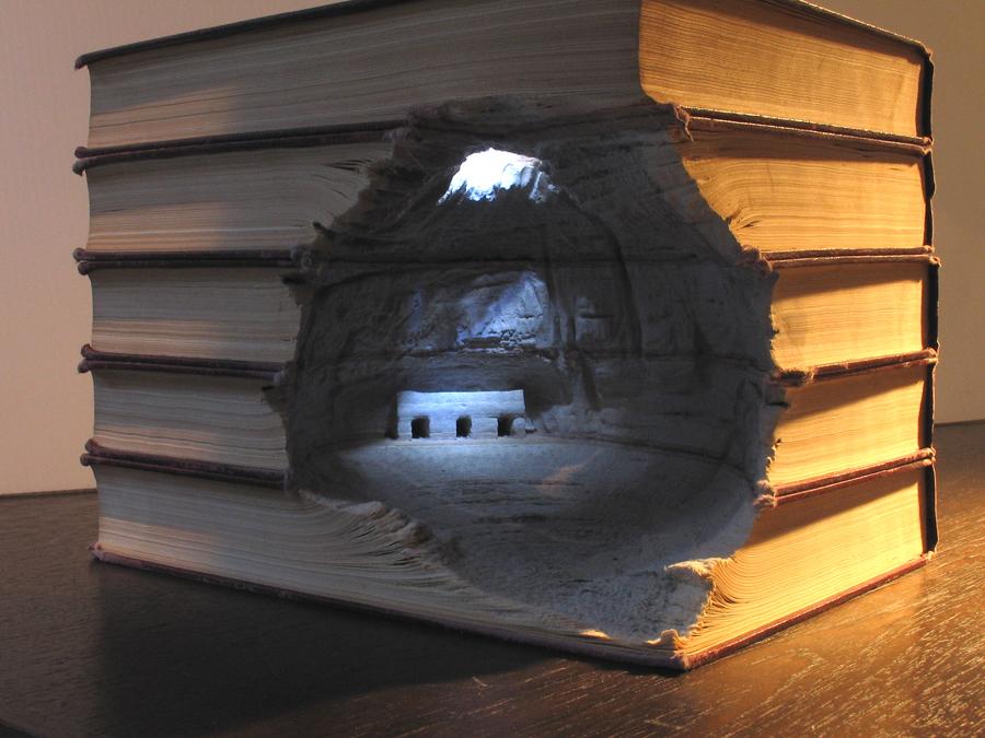 paysage sculpture livre 08 Des paysages sculptés dans des livres