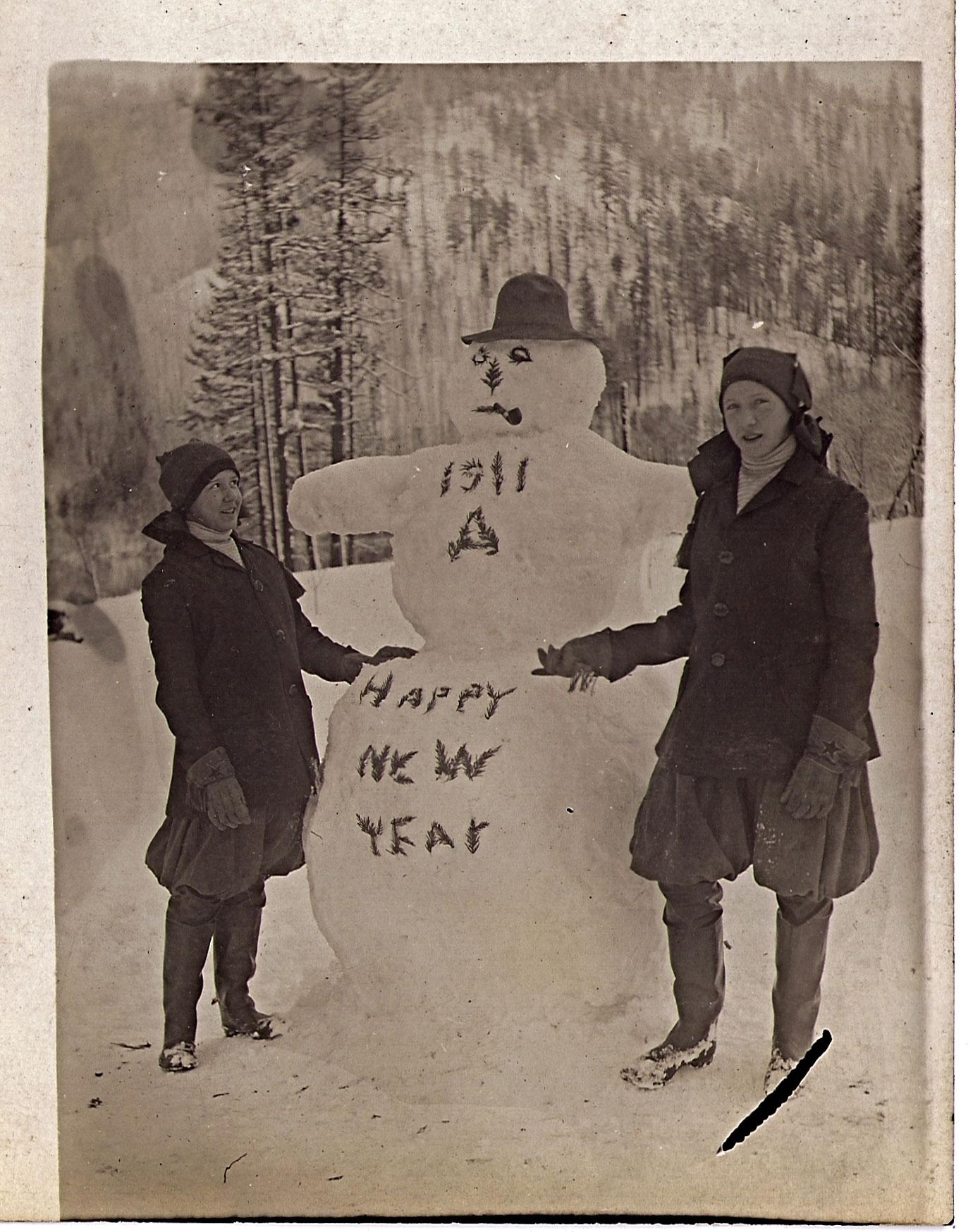 bonhomme neige ancien photo 02 Des bonshommes de neige à lancienne