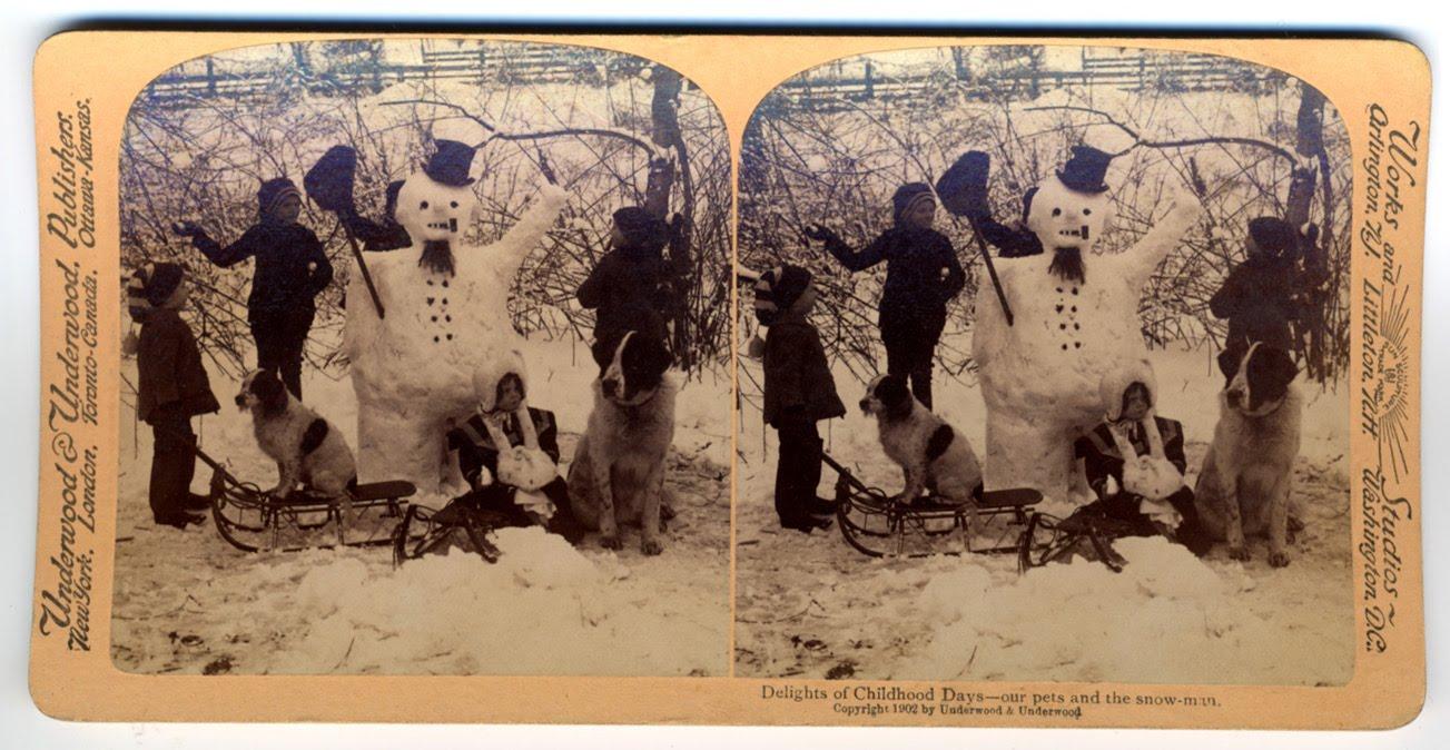 bonhomme neige ancien photo 03 Des bonshommes de neige à lancienne