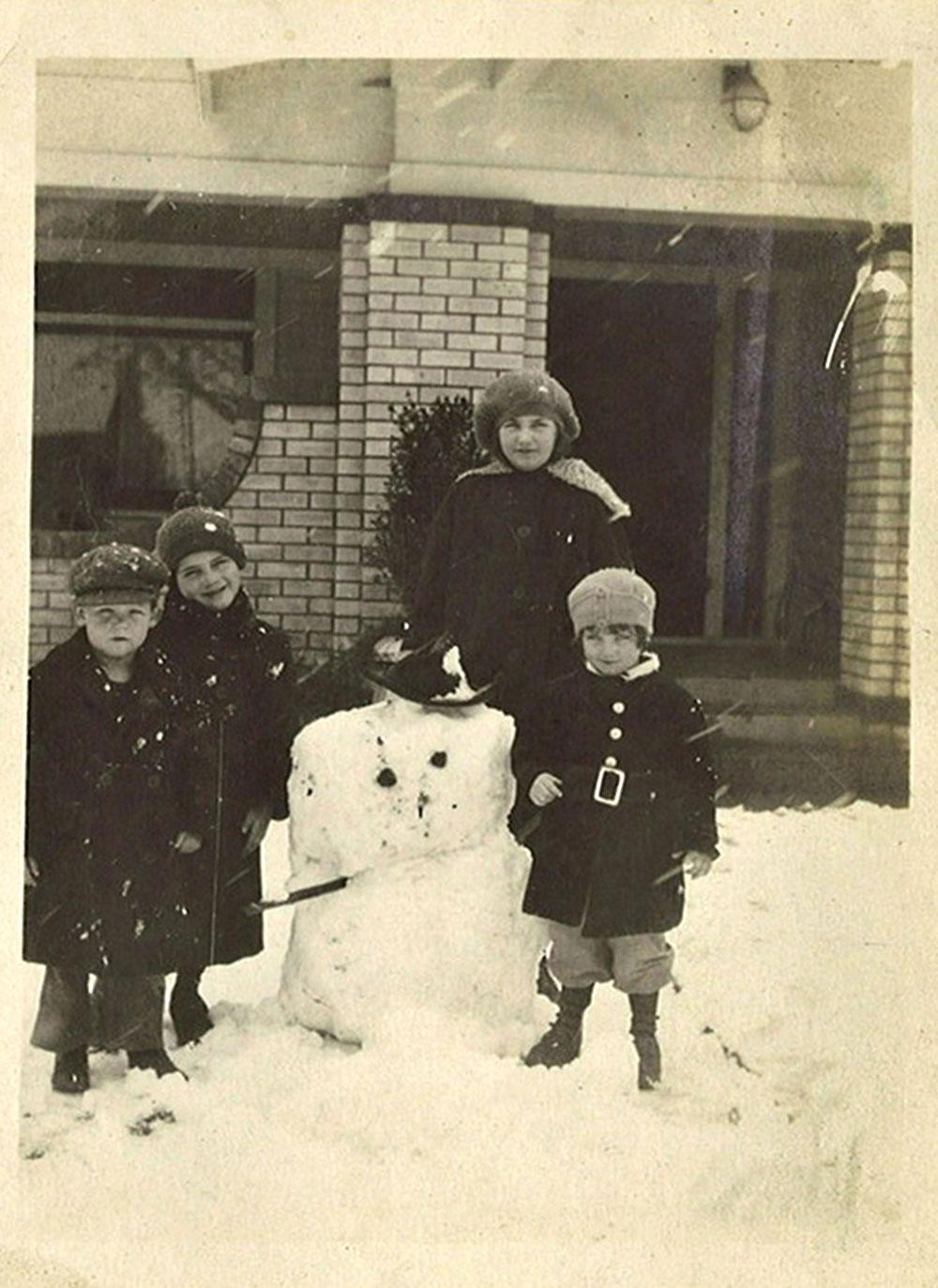 bonhomme neige ancien photo 04 Des bonshommes de neige à lancienne