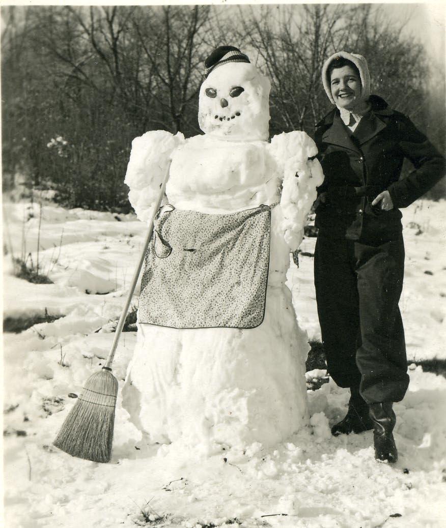 bonhomme neige ancien photo 05 Des bonshommes de neige à lancienne