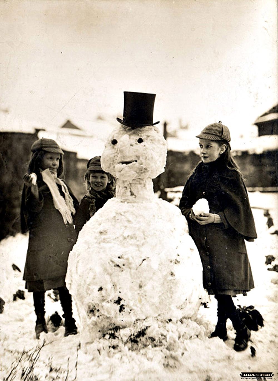 bonhomme neige ancien photo 06 Des bonshommes de neige à lancienne