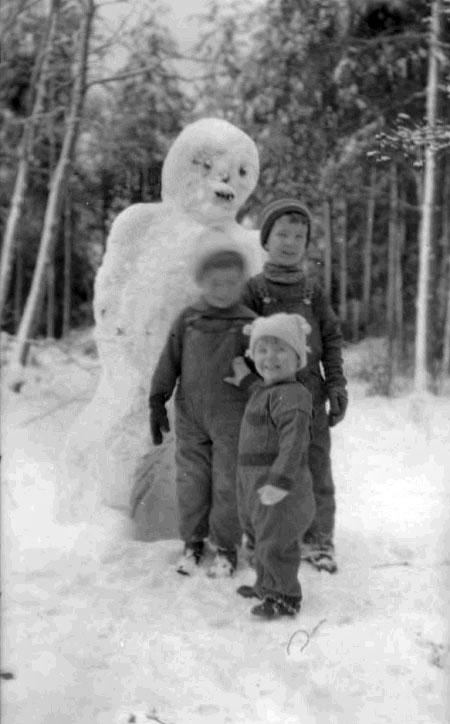 bonhomme neige ancien photo 10 Des bonshommes de neige à lancienne