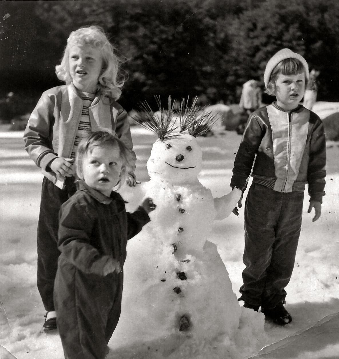 bonhomme neige ancien photo 11 Des bonshommes de neige à lancienne