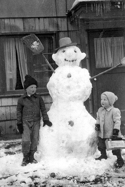 bonhomme neige ancien photo 20 Des bonshommes de neige à lancienne