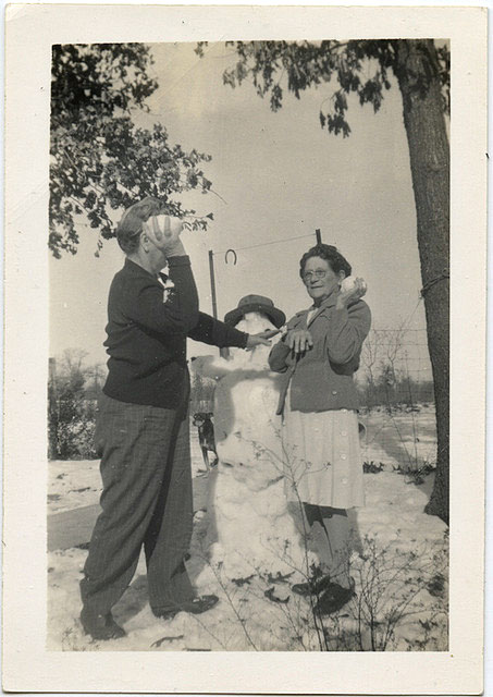 bonhomme neige ancien photo 26 Des bonshommes de neige à lancienne