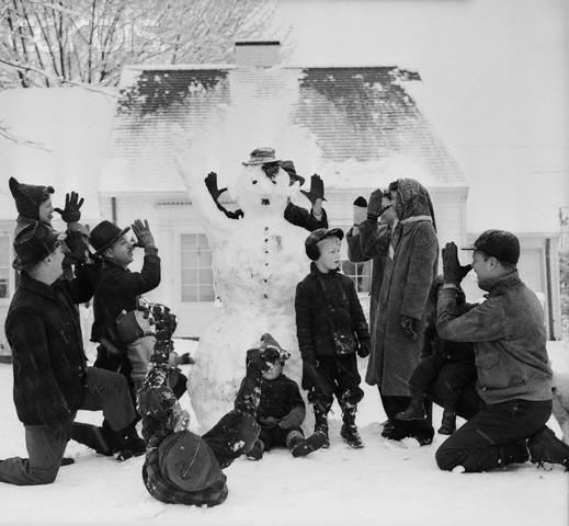 bonhomme neige ancien photo 46 Des bonshommes de neige à lancienne